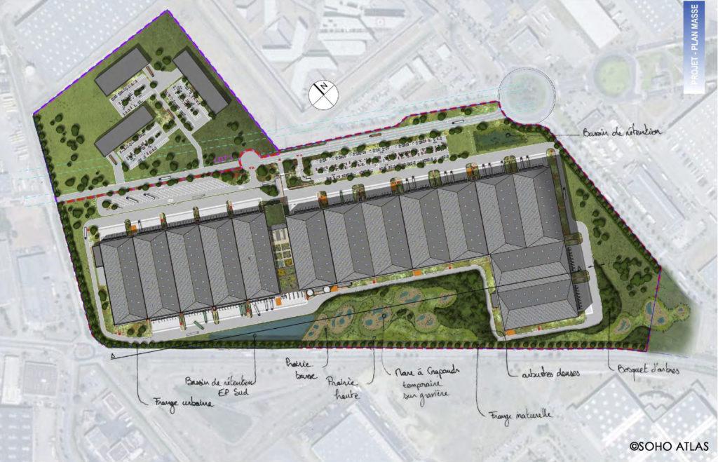 Construction d'un centre logistique national / Corbas - Esau